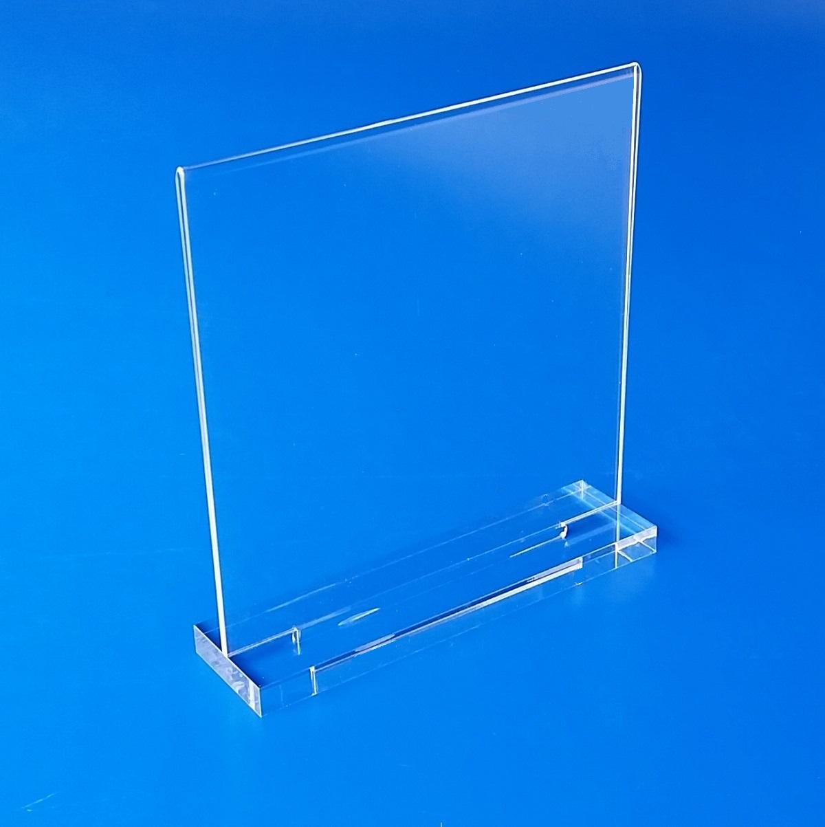 Portalistino portaprezzo portafoto in plexiglass - Portafoto da tavolo ...