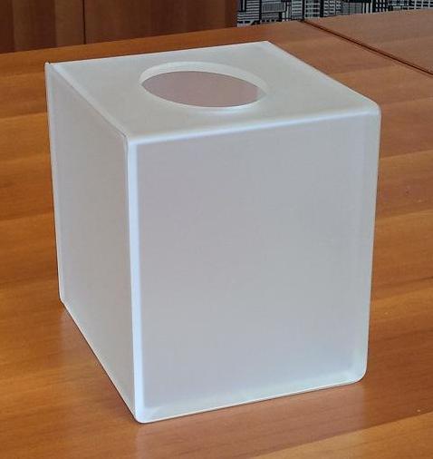 Box porta salviette in plexiglass satinato