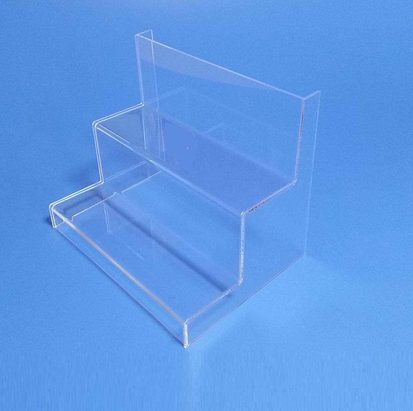 Scalette espositive alzatine per negozi in plexiglass - Scalette per librerie ...