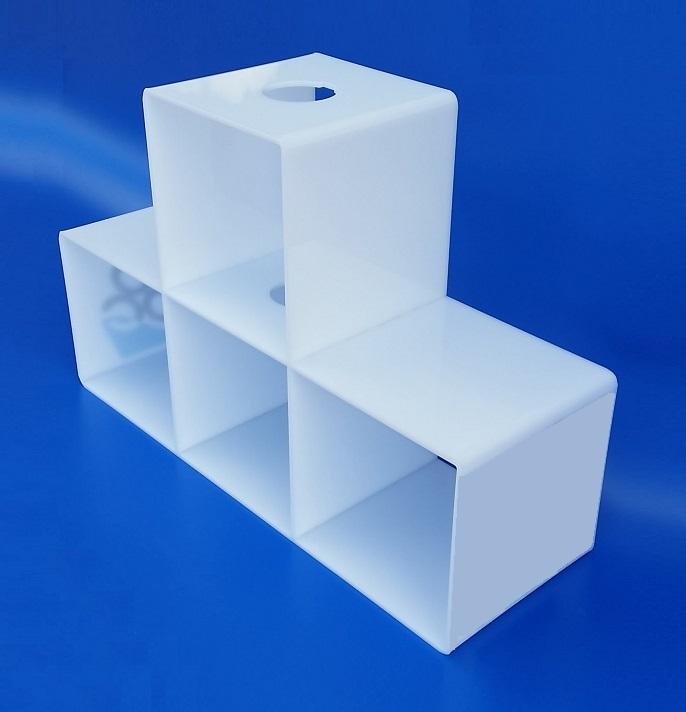 Cubi da esposizione in plexiglass