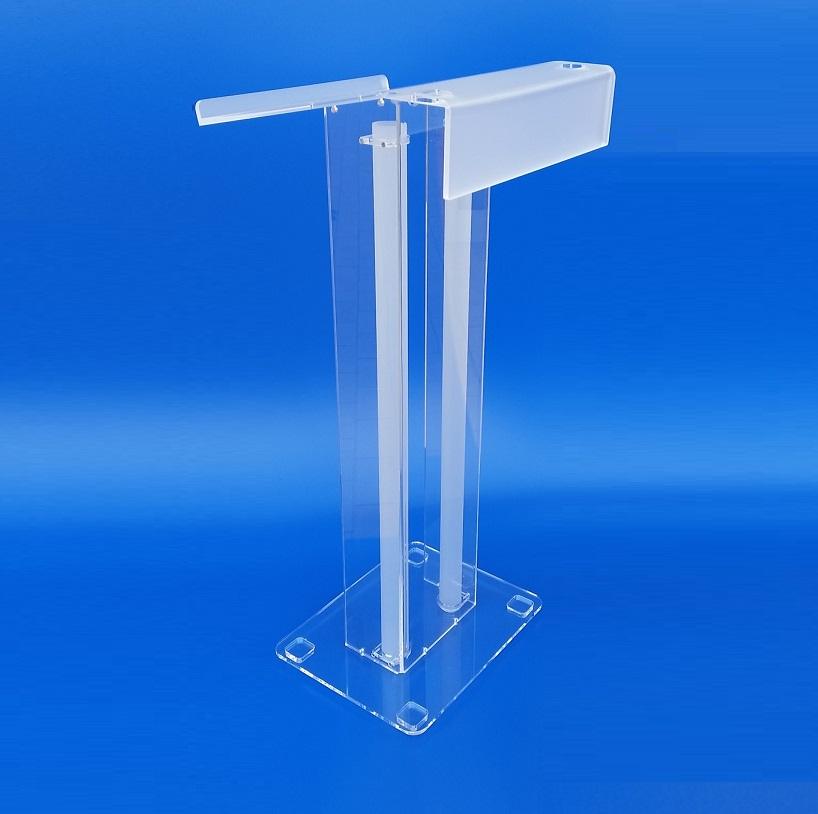 Leggio Da Terra Plexiglass.Leggio Da Terra In Plexiglass Smontabile Taglio Laser
