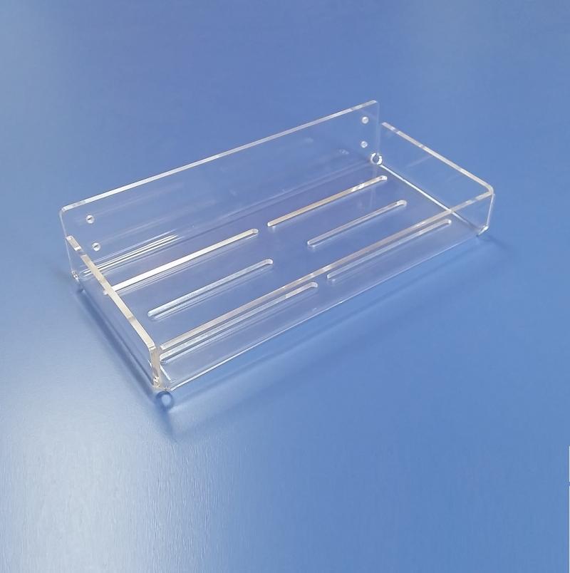 Mensole in plexiglass trasparente realizzate su misura taglio laser - Mensole bagno plexiglass ...