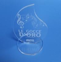 Trofeo e premi in plexiglass incisi a laser