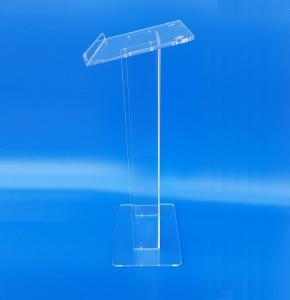 Podio Leggio in plexiglass trasparente smontabile