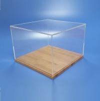Teche in plexiglass per modellismo collezionismo musei in plexiglass trasparente.