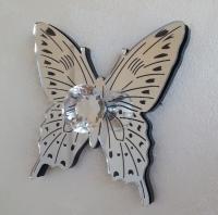 appendiabiti attaccapanni farfalla ion plexiglass specchiato