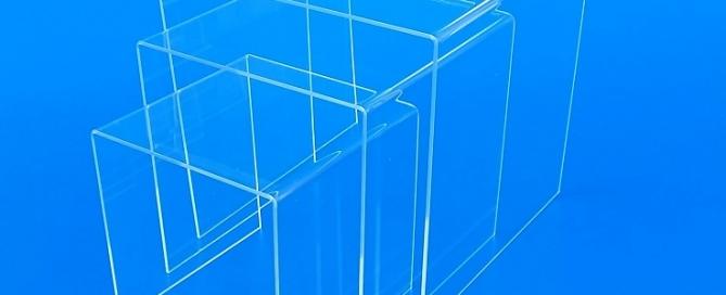 Tavolinetti tavolini a ponte in plexoglass