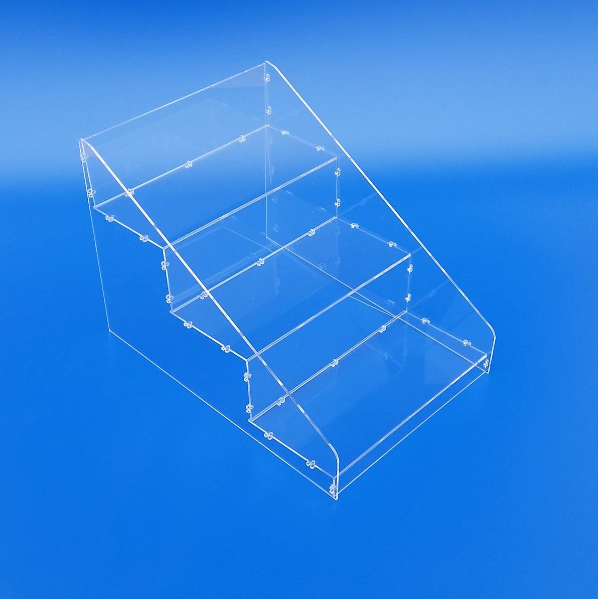 Espositore a gradini in plexiglass
