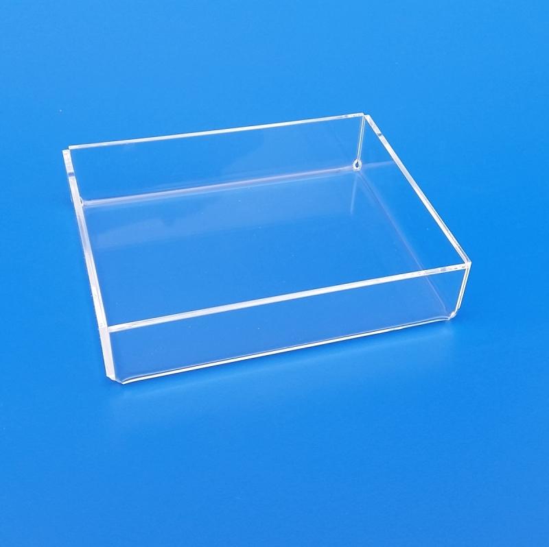 Scatola in plexiglass senza coperchio