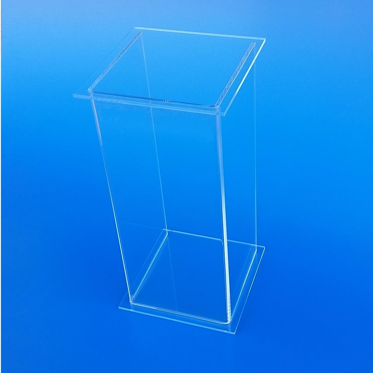 Piedistallo espositivo in plexiglass trasparente