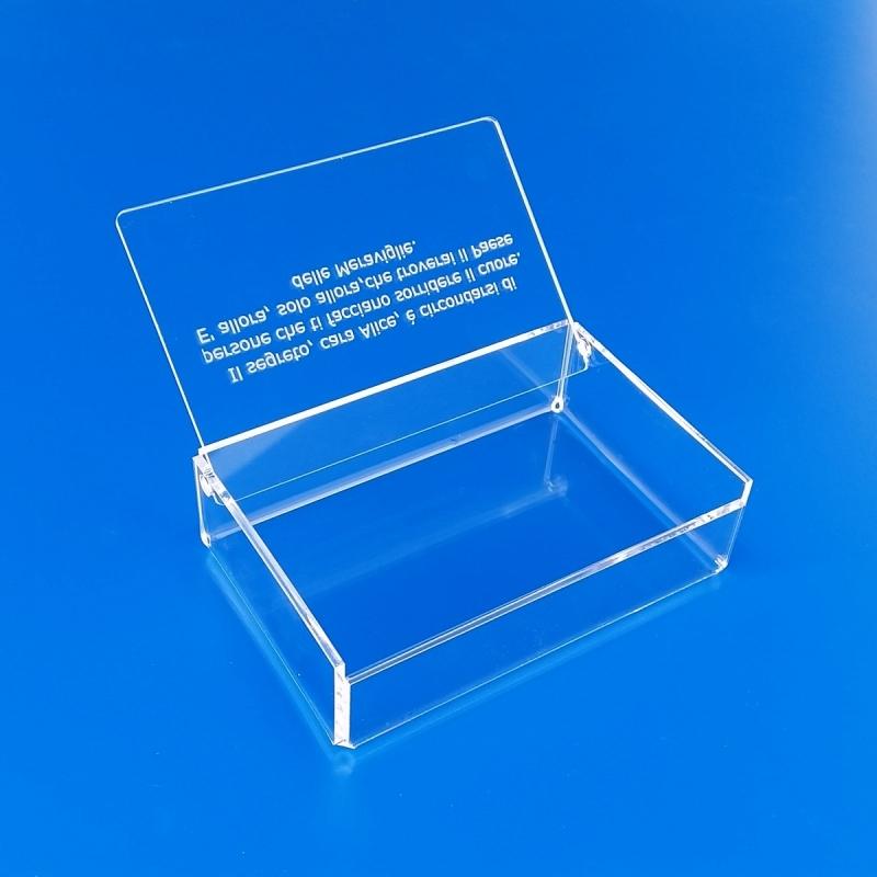 Scatolina, box in plexiglass trasparente personalizzato portaconfetti o espositore