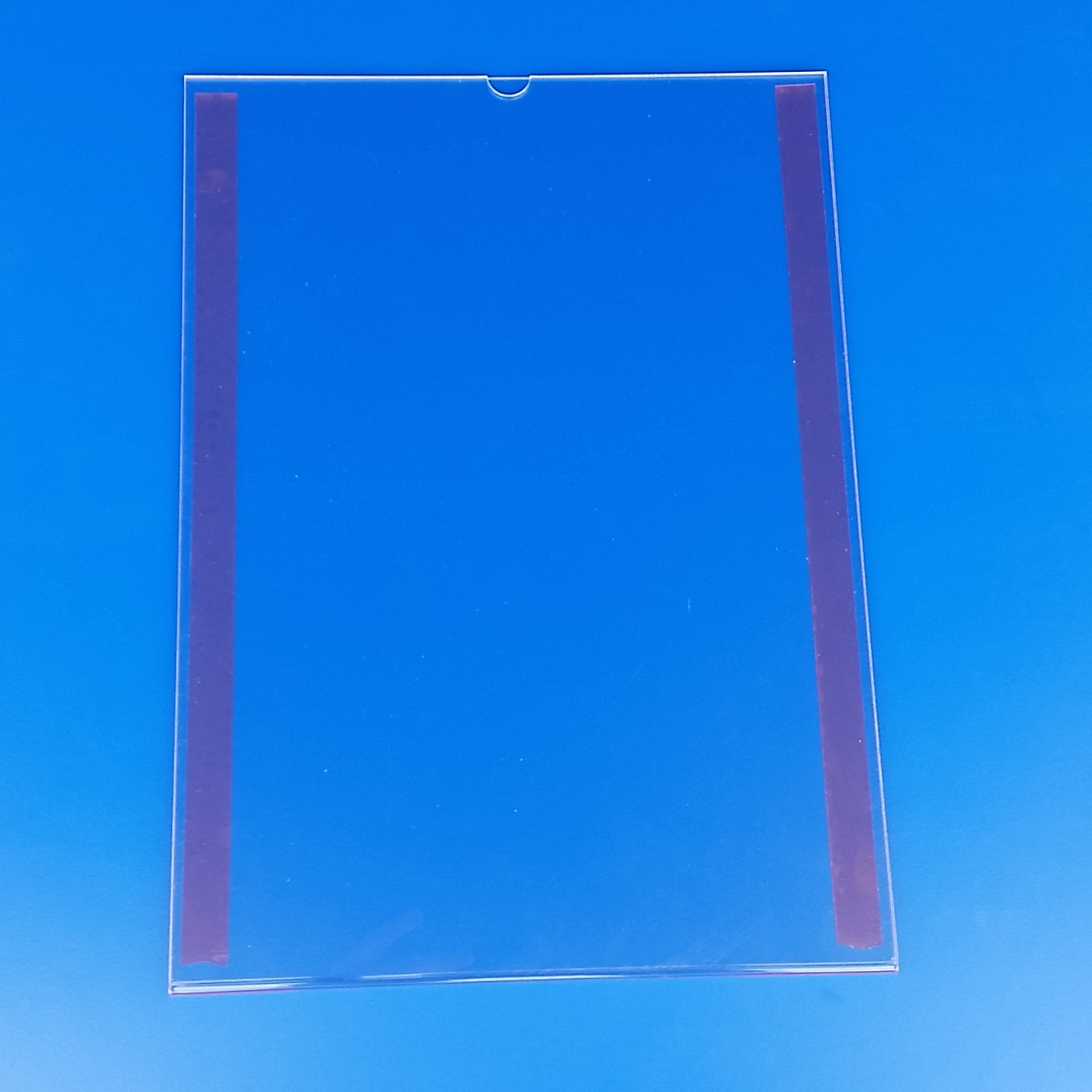 Tasca portacomunicazione in plexiglass trasparente