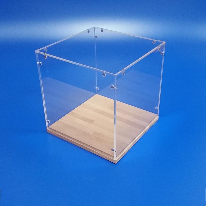 Teca modellismo smontabile in plexiglass trasparente.