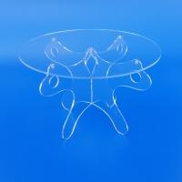 Tavoli tavolini alzatine in plexiglass trasparente