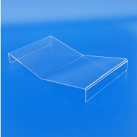 Leggio da tavolo in plexiglass trasparente ad M