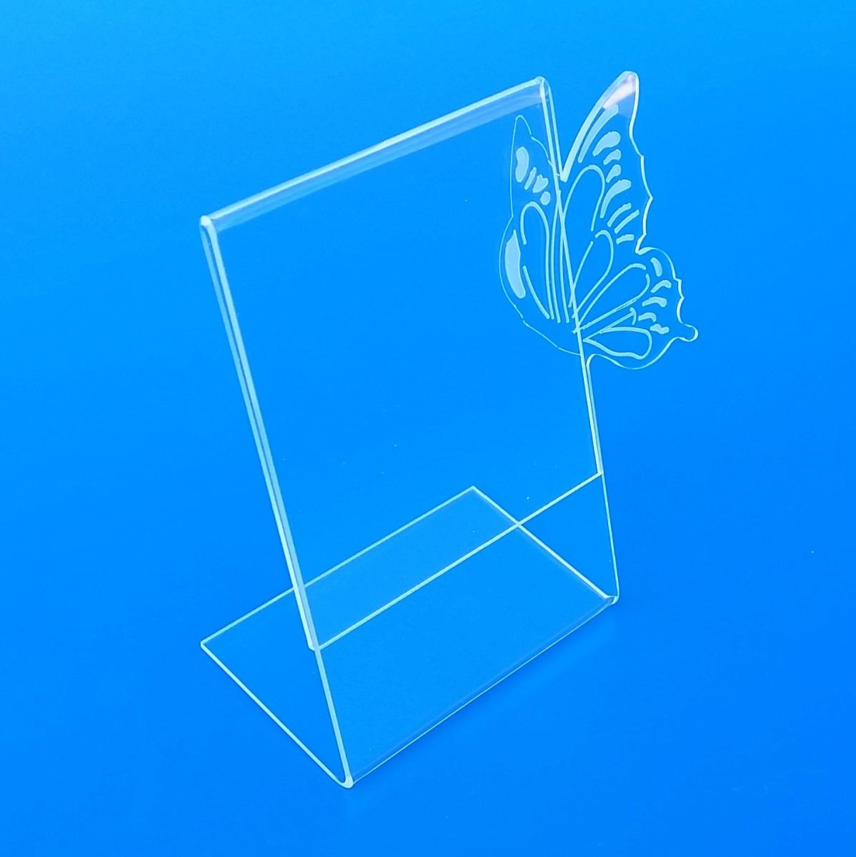 Cavaliere bifacciale in plexiglass taglio laser - Portafoto da tavolo 20x30 ...